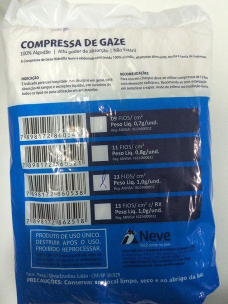 COMPRESSA DE GAZE 13 FIOS
